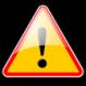 Attention panneau logo