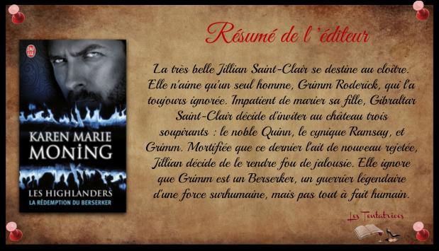 Les Highlanders, tome 2 - La rédemption du Berserker - Karen Marie Moning